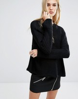 Noisy May Vera Funnel Neck Knit Sweater