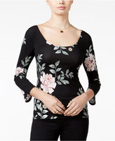 GUESS Kamea Floral-Print Scoop-Neck Top