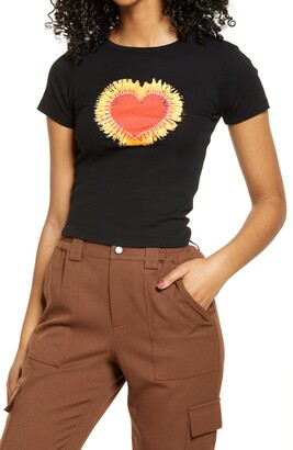 BDG Flaming Heart Graphic Tee