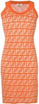 Fendi FF jersey mini dress