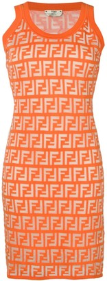 Fendi FF motif jersey mini dress