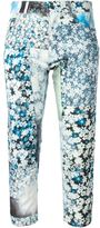 MM6 MAISON MARGIELA floral print cropped jeans