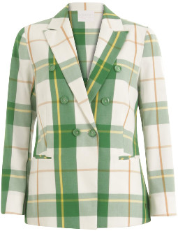 Coster Copenhagen - Suit Jacket w. Double Breasted Closure - Picnic Check - Size 36 (UK 10)