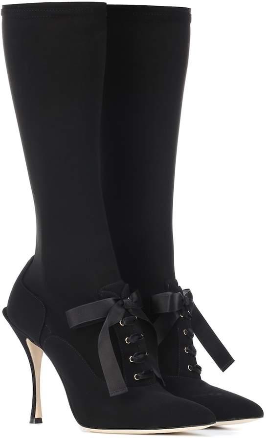 Dolce & Gabbana Stretch-knit boots