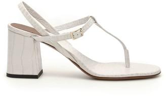 L'Autre Chose Thong Block Heel Sandals