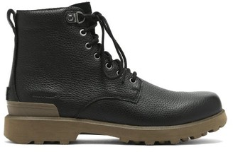 Sorel Caribou Six Waterproof Grained-leather Boots - Black