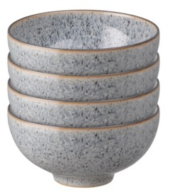 Denby Studio Craft Grey 4 Piece Rice Bowl Set