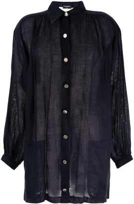 Chanel Pre Owned Linen Relaxed Shirt