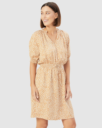 French Connection Women's Dresses - Animal Shirred Dress - Size One Size, 16 at The Iconic