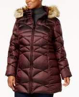 Jones New York Plus Size Faux-Fur-Tim Down Puffer Coat