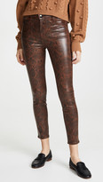 J Brand Alana High Rise Coated Crop Skinny Jeans