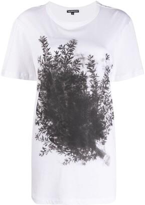 Ann Demeulemeester Longline Plant Print T-Shirt