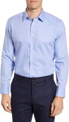 The Tie Bar Trim Fit Dobby Dot Dress Shirt