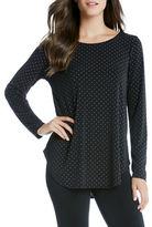 Karen Kane Dot Shirttail Top
