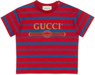 Gucci Boy's Striped Vintage Logo Short-Sleeve T-Shirt, Size 12-36 Months