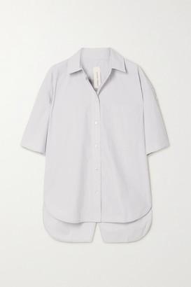 Lee Mathews - Net Sustain Organic Cotton-poplin Shirt - Sky blue