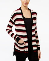 Freshman Juniors' Ribbed Open-Front Cardigan