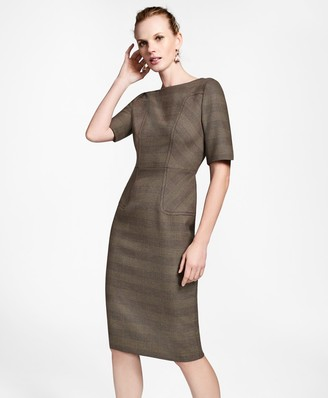 Brooks Brothers Glen Plaid Sheath Dress