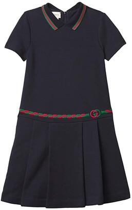 Gucci Kids Embroidered Trim Dress (Little Kids/Big Kids) (Classic Blue/Mix) Girl's Clothing