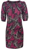 Butterfly Print Puff Dress