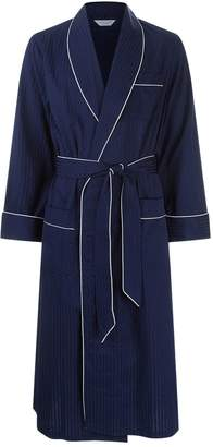 Derek Rose Pin Dot Piped Dressing Gown