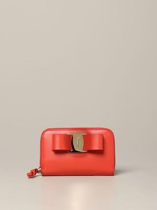 Salvatore Ferragamo Vara Rainbow Zip Around Wallet