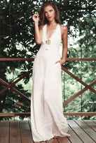 The Jetset Diaries Morning Swim Maxi Dress in Ivory
