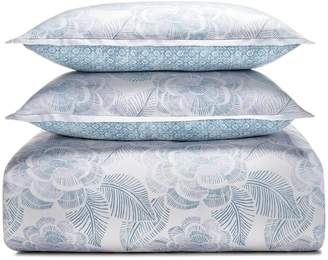 Sky Linear Floral Duvet Cover Set, Full/Queen - 100% Exclusive