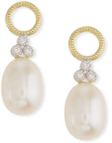 Jude Frances 18k Gold Provence Pearl Briolette Earring Charms