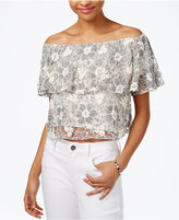Rachel Roy Off-The-Shoulder Lace Crop Top, Only at Macy's