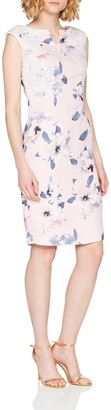 Precis Petite Women's Petite Lace & Print Dress Knee-Length Dress Sleeveless Party Dress