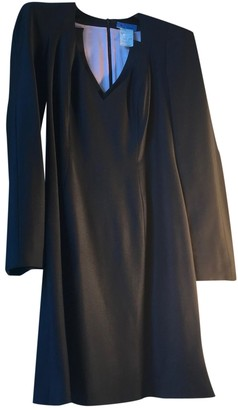 Thierry Mugler Black Wool Dresses