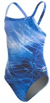 Speedo Youth Endurance+ Ice Flow Drill Back One Piece Swimsuit 8146372