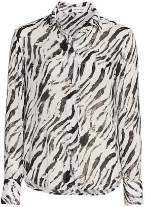 Bella Dahl Zebra-Print Shirt