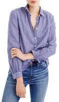J.Crew Gathered Gingham Popover Shirt (Regular & Petite)