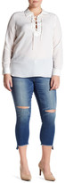 Jolt Ripped Straight Leg Jean (Plus Size)