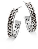 Lois Hill Sterling Silver Medium Thai Weave Earrings