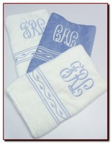 The Well Appointed House Set of Six Custom Embroidered Towels - Optional Monogram