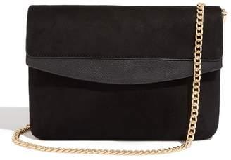 Oasis Womens Black Chain Strap Clutch Bag - Black