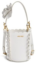 Miu Miu Leather Bucket Bag - White