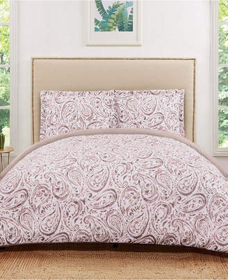 Truly Soft Watercolor Paisley Twin Extra Long Duvet Set Bedding