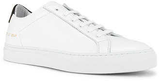 Common Projects Retro Low Sneaker in White & Black | FWRD