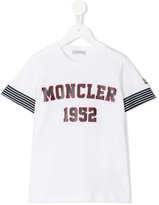 Moncler logo print T-shirt - kids - Cotton - 10 yrs