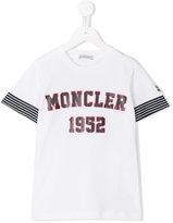 Moncler logo print T-shirt - kids - Cotton - 12 yrs