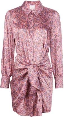 Cinq à Sept Gaby floral shirt dress