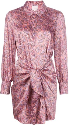 Cinq à Sept Gaby floral shirt dress