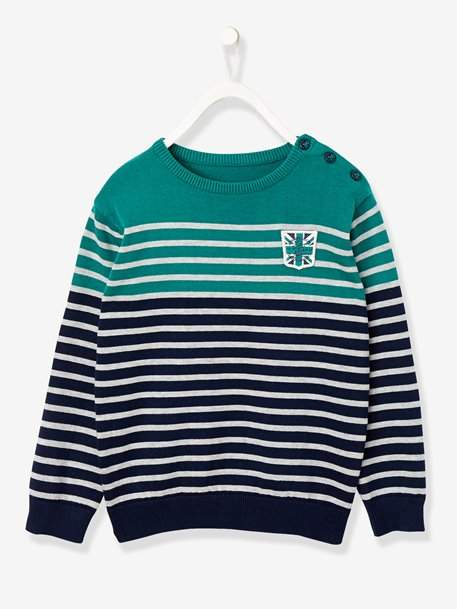 Boys' Striped Jumper - white light mixed color