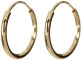Candela 14K Yellow Gold 10mm Endless Hoop Earrings