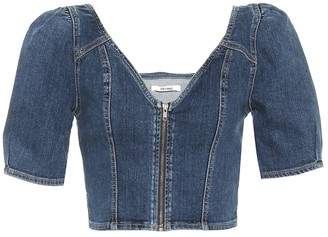 GRLFRND Ember denim crop top