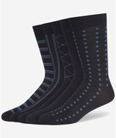 Wolsey 5-Pack Patterned Cotton Men's Socks, Navy